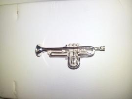 zilveren bedel trompet 10.03407