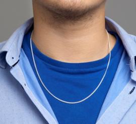 zilveren gourmet collier 50 cm