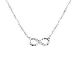 zilveren collier infinity
