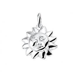 zilveren bedel zon