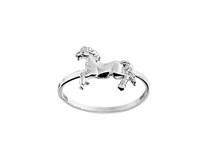 zilveren kinderring paard