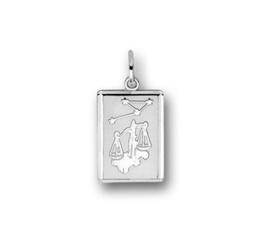 zilveren sterrenbeeld weegschaal