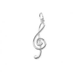 zilveren bedel muzieksleutel