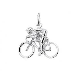 zilveren bedel wielrenner