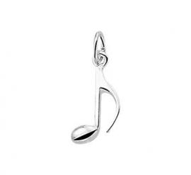 zilveren bedel muzieknoot