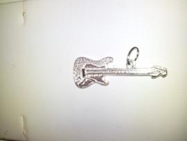 zilveren bedel gitaar 10.03217