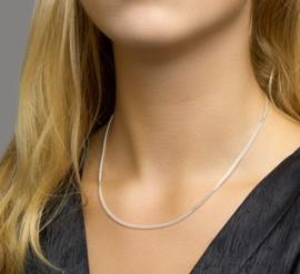 zilveren gourmet collier 38cm t/m60cm