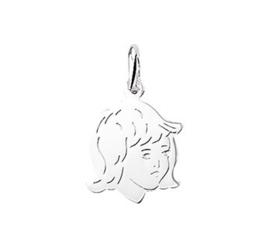 zilveren bedel kinderhoofd meisje