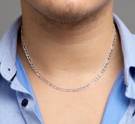 zilveren figaro collier