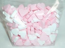 Geboorte hartjes roze (pepermunt)