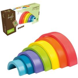 Regenboog blokken kleur 7-delig