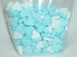 Geboorte hartjes blauw (pepermunt)