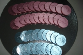 Geboorte chocolade munten