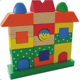 Bouwpuzzel huis met/zonder naam