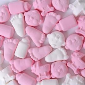 Geboorte schuimpjes roze