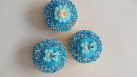 geboorte cupcake roze/blauw