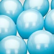 Ballonnen zonder opdruk blauw