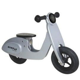 Houten scooter roze of zilver met/zonder naam