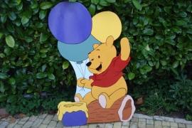 Pooh met ballonnen