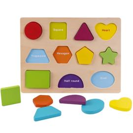 Kleuren en vormen sorteerpuzzel