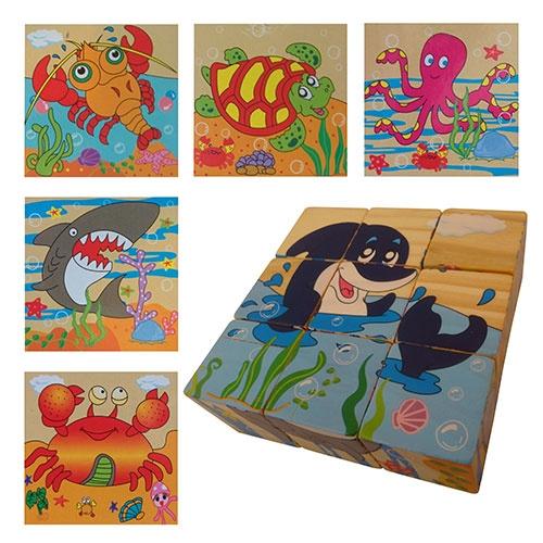 Blokpuzzel zeedieren