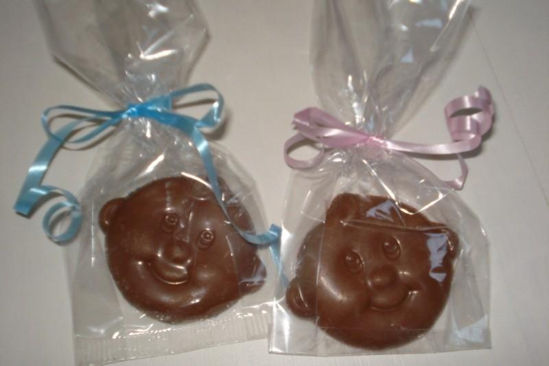 Geboorte uitdeelzakjes met chocolade