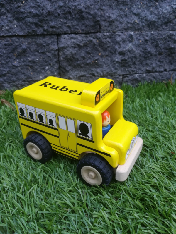 Schoolbus met/zonder naam