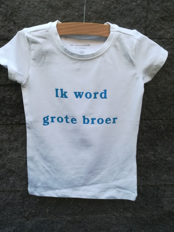 Shirt- Ik word grote broer/zus
