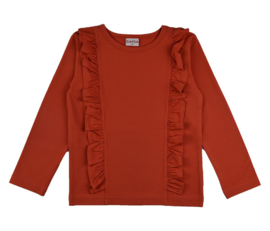 Julz * Ruffle Shirt Red
