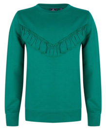 Indian Blue Jeans * NEW WINTER 2019 * Green Sweat with Ruffles