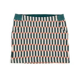 Julz * Pippa Short Skirt Blocks Green