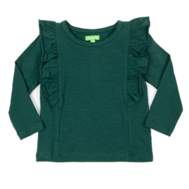 Julz * Charlotte Shirt Dark Green