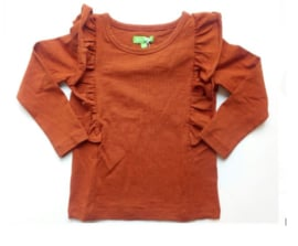 Lily Balou * WINTER 2019 KIDS * Charlotte Shirt Brown Ruffle