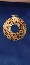 Zilver hanger tijgerprint