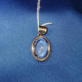Zilverhanger heldere kristal