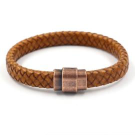 Leren armband licht bruin