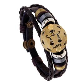 Leer armband weegschaal