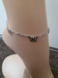Enkelband met vlinders