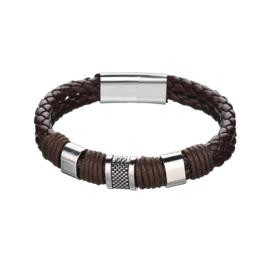bruine armband gevlochten