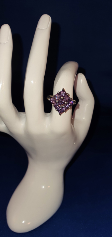 Ring met paars