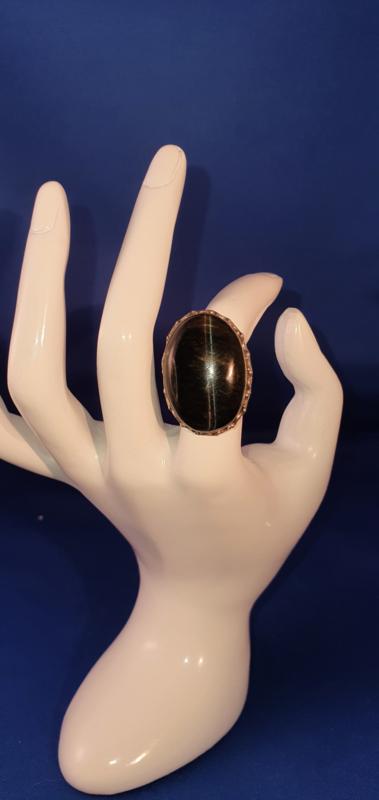 Brocante ring ovaal
