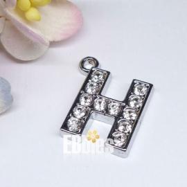 Letter met strass - H