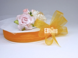 Organza lint 10mm - Orange - 3 meter