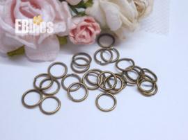 Ringetjes 6mm - Brons