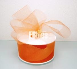Fijnmazig tule -Oranje - 50mm