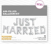 Folieballon Just married