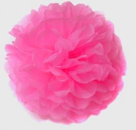 Pompom rond roze