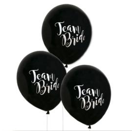 Ballonnen Team bride 5st zwart