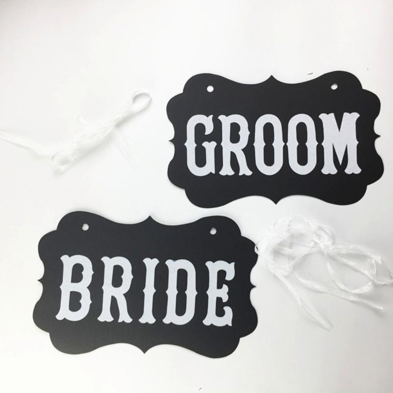 Set Bride & Groom zwart