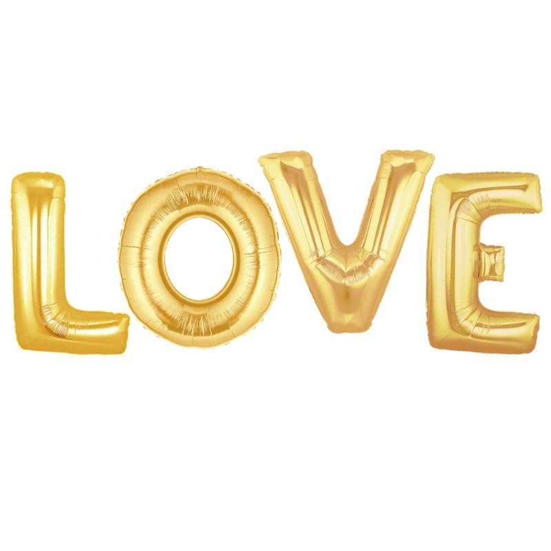 Folieballon Love goud 40CM
